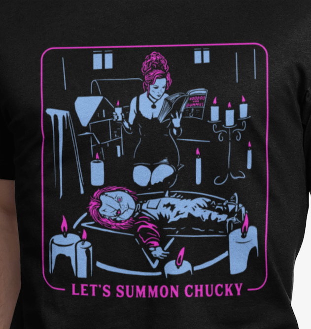 """LETS SUMMON CHUCKY"" Unisex T-Shirt Colored"