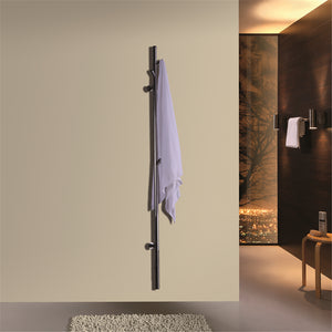 "Stainless Steel Wall-Mounted Towel Warmer 60"" x 3.93"""