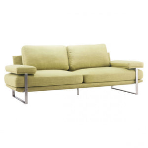 Plush Sofa With Stainless Steel Frame