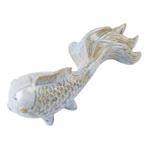 Blue Goldfish Sculpture