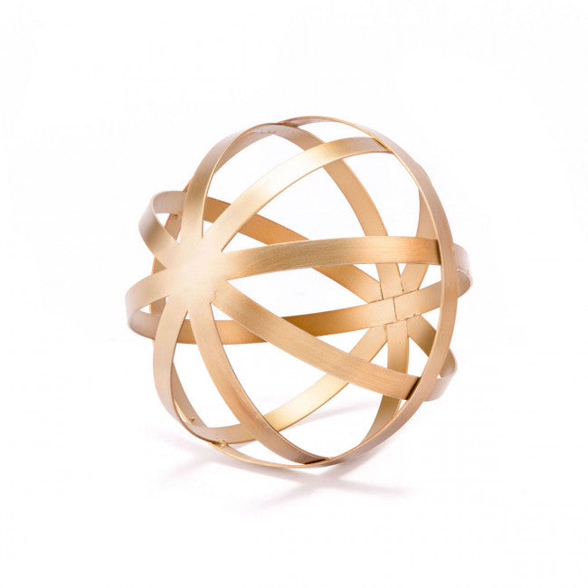 Gold Orb Sculpture
