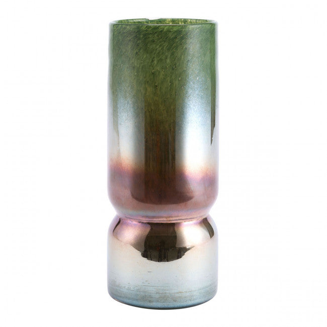 iridescent metallic vase