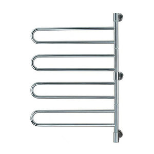 "Stainless Steel Brushed Wall-Mounted Swivel Jack Towel Warmer 25""Wx 37""Hx 3.9""D - AMBA"