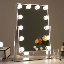"Martine - Hollywood Style 15.75"" x 11.81"" Dimmable Tabletop Vanity LED Mirror"