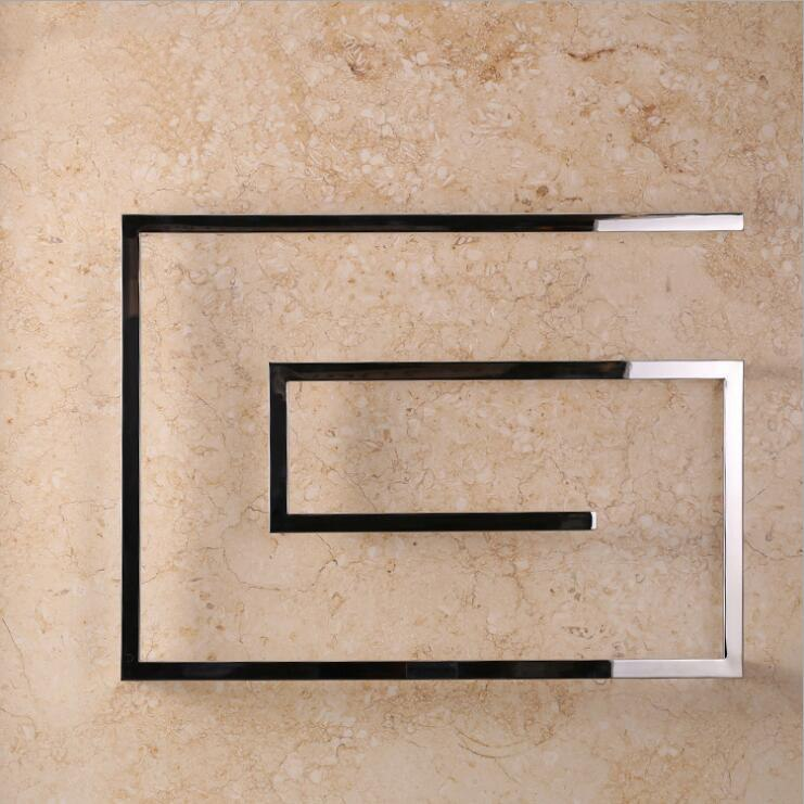Stainless Steel Designer Square Wall-Mounted Towel Warmer 23.62