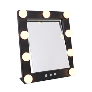 "FARRAH - Dimmable 9.8"" x 11.81"" Free Standing LED Makeup Mirror With Color Changeable LEDs"