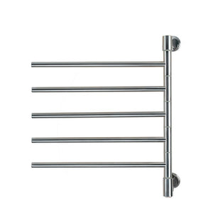 "Stainless Steel Brushed Wall-Mounted Swivel Jack Towel Warmer 27.95"" x 24.02"" x 3.94"" - AMBA"