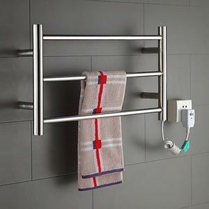 "Stainless Steel Wall-Mounted Polished Mirror Towel Warmer 19.68"" x 13.79"" x 3.93"""