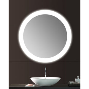 "36"" round vanity mirror with lights"