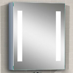 "STELLA - LED Wall-Mounted Vertical Striped Medicine Cabinet 20""x28"" - Lighted Image"