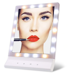 "Ruby - Hollywood Style 8.42"" x 11.81"" Dimmable Tabletop Or Wall-Mounted Vanity LED Mirror"