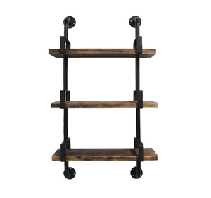 "Industrial Iron 3 Tier Standing Utility Shelf -  24.01"" x 9.84"" x 39.37"""