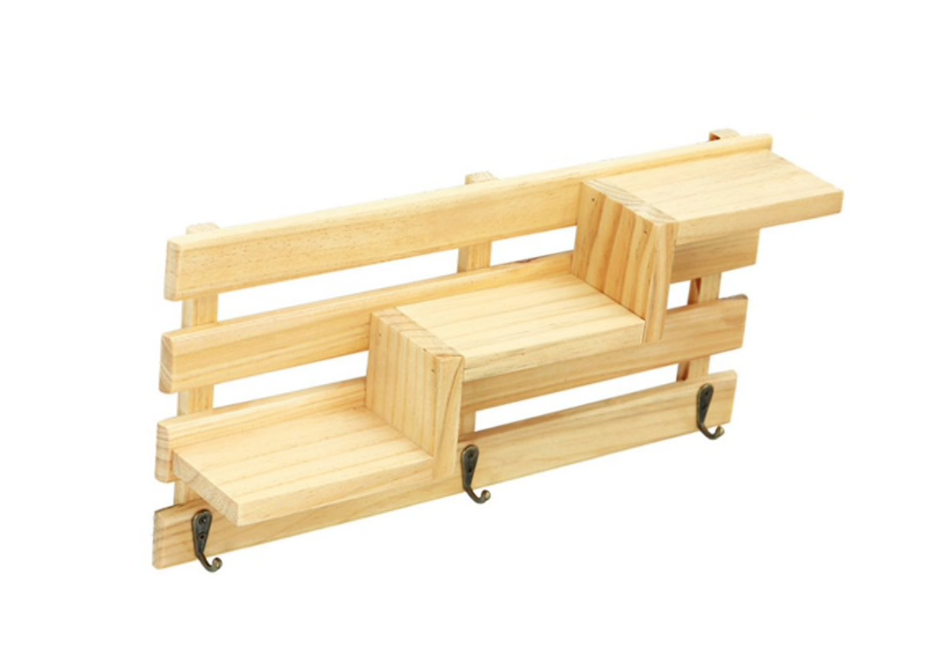 Wooden Staircase Shelf Rack - 15.74
