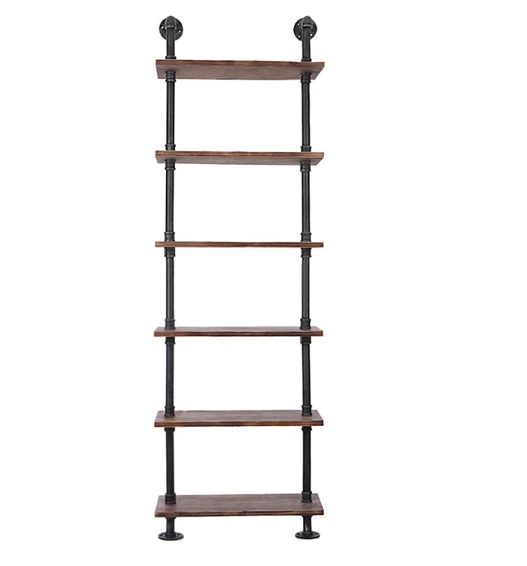 Industrial Iron 6 Tier Standing Utility Shelf -  23.62