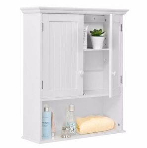 "Modern Wooden Wall-Mounted Storage Cabinet - 23.6"" x 7.9"" x 27.8"""