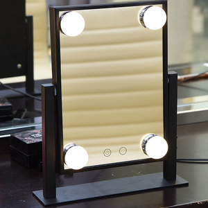 "Sofia - 9.25"" x 11.33"" Free Standing LED Makeup Mirror With Color Changeable LEDs"