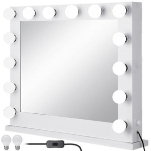 "Audrey - Hollywood Style 31.5"" x 25.6"" Dimmable Tabletop Vanity LED Mirror"