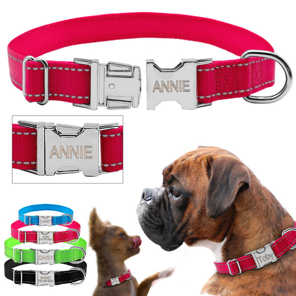 collar reflective nylon dogs collars customized great dealz online