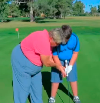 Junior Super Star Golf creator and LPGA professional Kathy Padgett discusses the putting