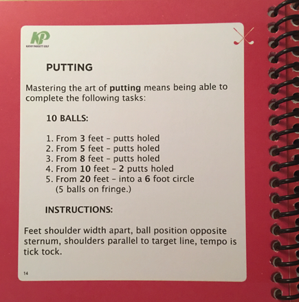 """Instructions"" within the 6 areas of golf in all 3 books"