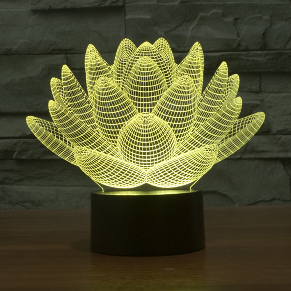 3d lotus flower table lamp the shop lord 3d lotus flower table lamp izmirmasajfo Choice Image