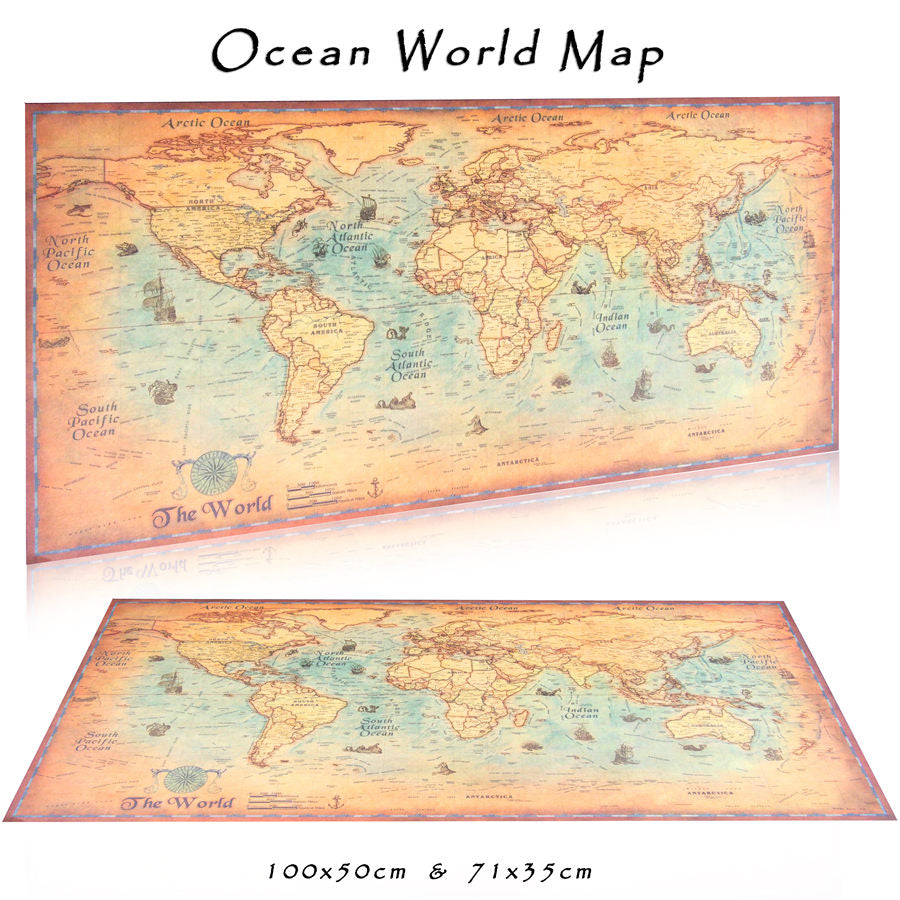 Vintage nautical world map poster the shop lord vintage nautical world map poster gumiabroncs Choice Image