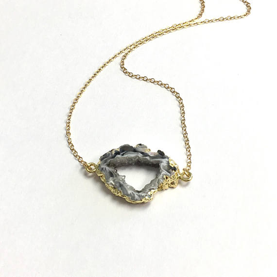 You are my rock geode necklace the shop lord you are my rock geode necklace aloadofball Images