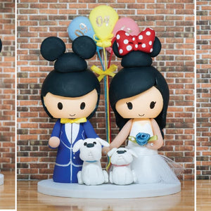 Disney Inspired Wedding Cake Toppers