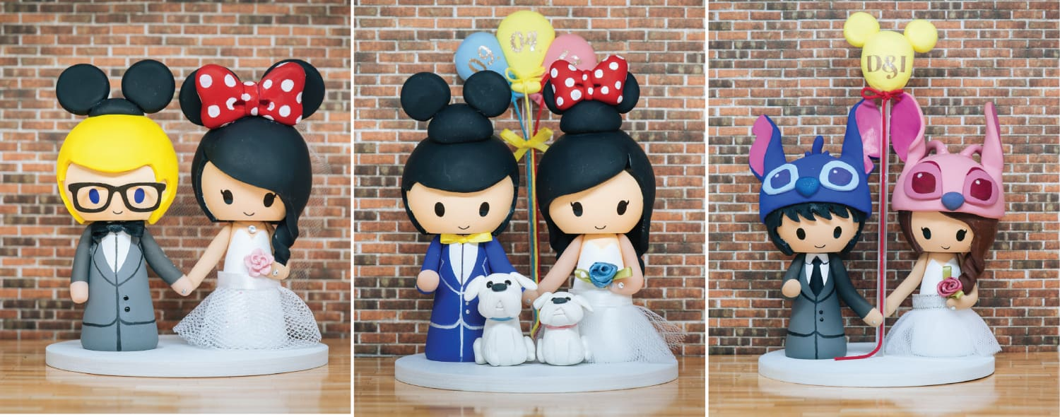 Disney Inspired Wedding Cake Toppers | Jessichu Creations