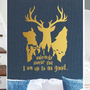 Harry Potter Custom Vinyl Decals for Home Decor, Walls, Stairs, Laptops