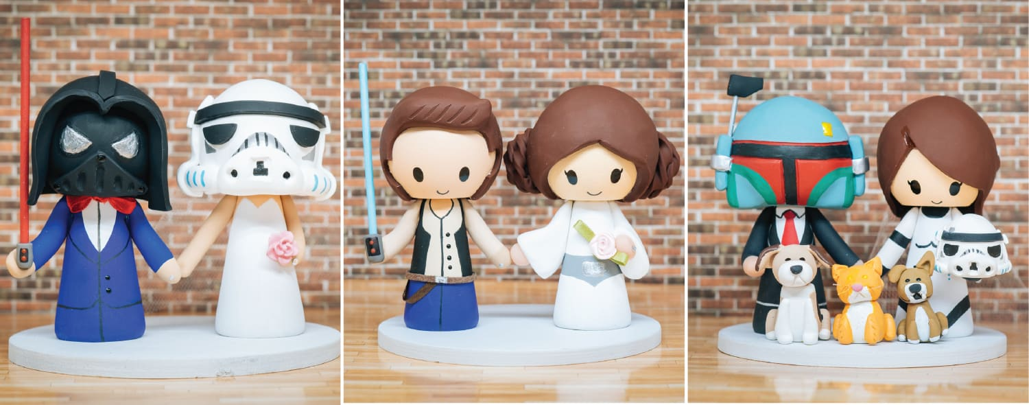 Star Wars Inspired Wedding Cake Toppers Jessichu Creations