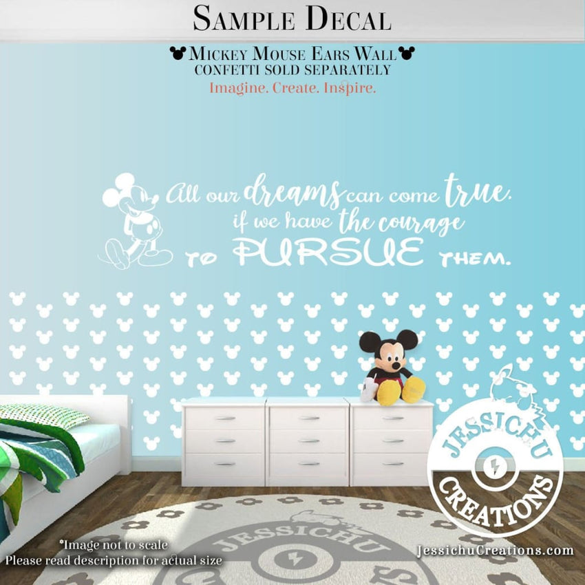 To Laugh At Yourself Is Love - Mickey Mouse Inspired Disney Quote Wall Vinyl Decal Decals