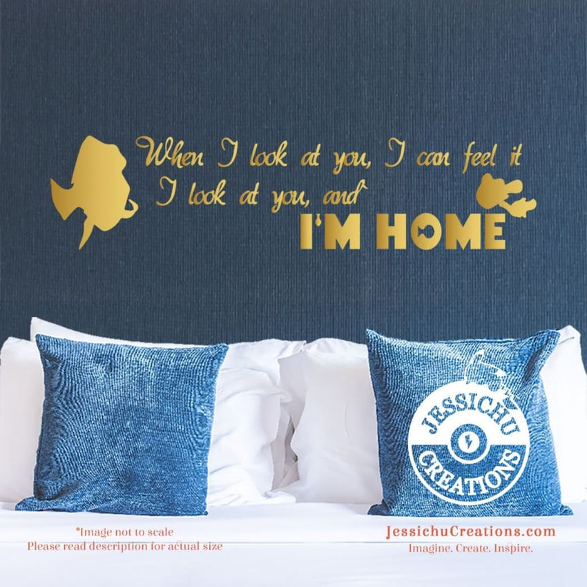 When I Look At You Can Feel It. - Finding Nemo Inspired Disney Quote Wall Vinyl Decal Decals