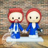 Mulder and Scully Wedding Cake Topper | X-Files | Jessichu Creations