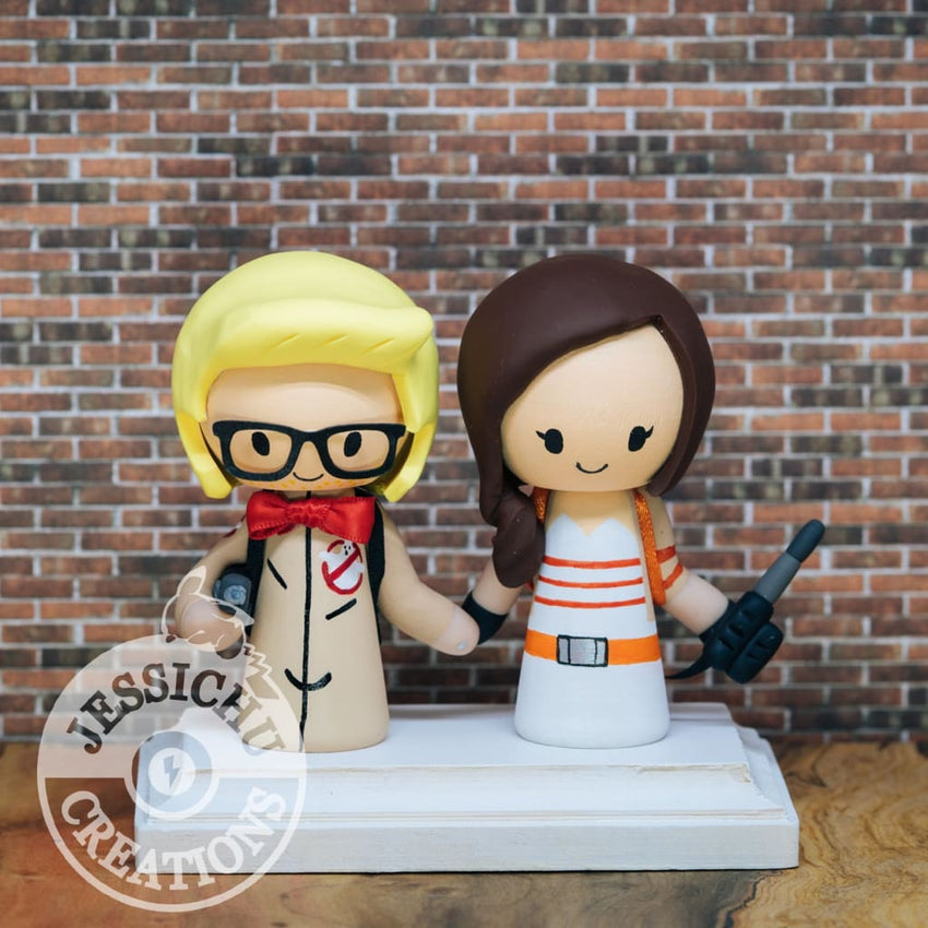 Ghostbusters Wedding Cake Topper | Jessichu Creations