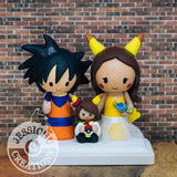 Goku and Pikachu Wedding Cake Topper | Dragon Ball Z x Pokemon | Jessichu Creations