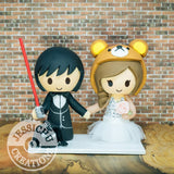 Darth Vader and Rilakkuma Wedding Cake Topper | Star Wars x Sanrio | Jessichu Creations