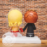 Ironman and Captain Marvel Wedding Cake Topper | X-Men x Marvel | Jessichu Creations