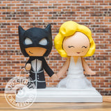 Batman and Marilyn Monroe Wedding Cake Topper | DC | Jessichu Creations