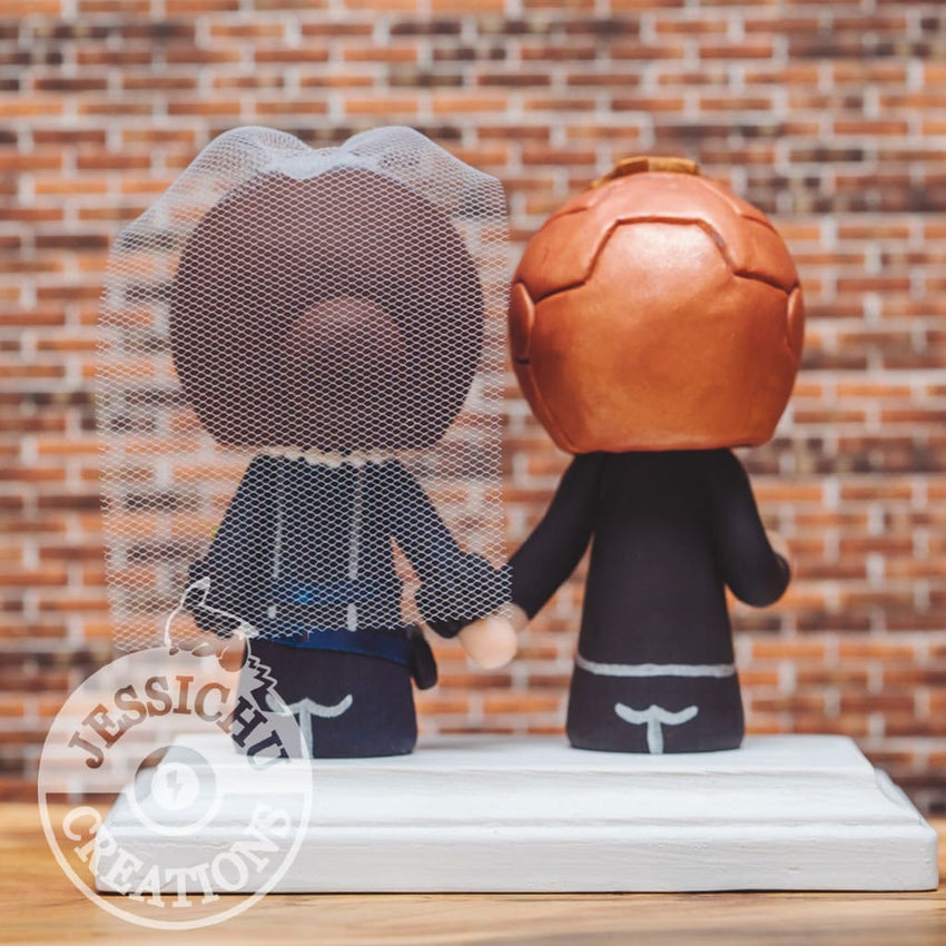 Ironman and Black Widow Wedding Cake Topper | Marvel | Jessichu Creations