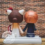 Ironman x Hello Kitty Captain America Wedding Cake Topper | Marvel x Sanrio | Jessichu Creations