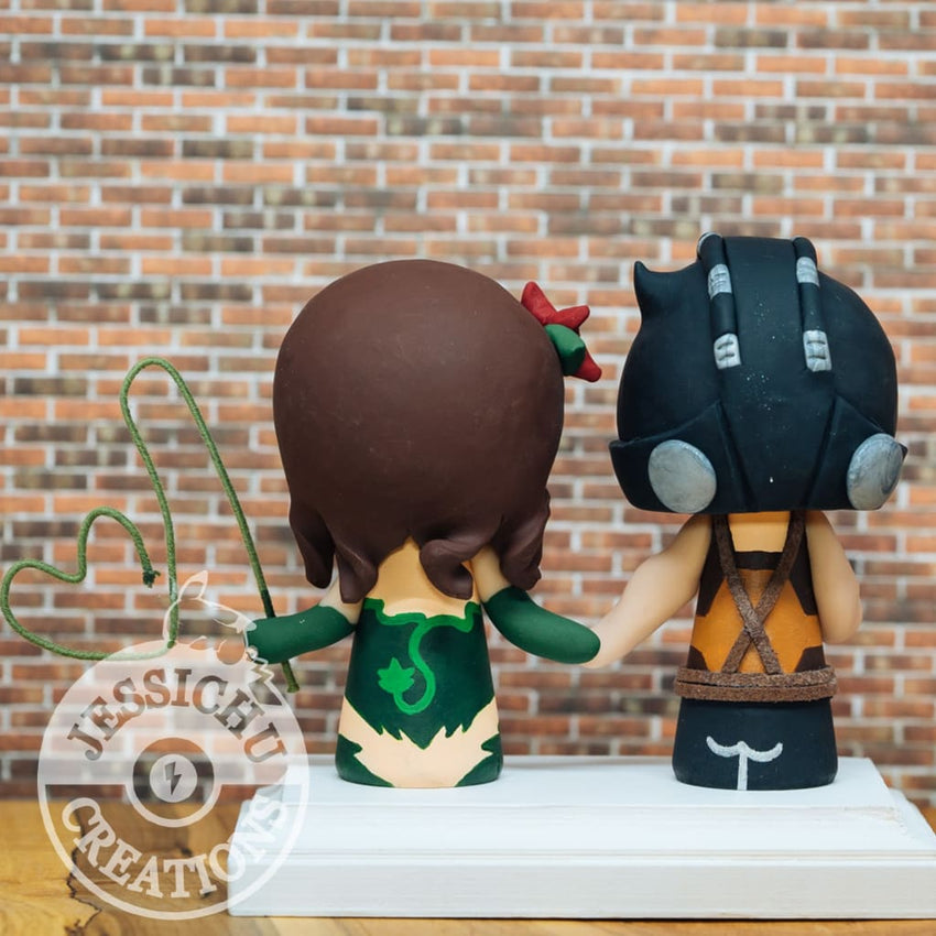 Bane and Poison Ivy Wedding Cake Topper | DC | Jessichu Creations