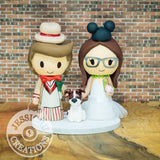 Fifth Dr Who and Mickey Mouse Wedding Cake Topper | Dr Who x Disney | Jessichu Creations