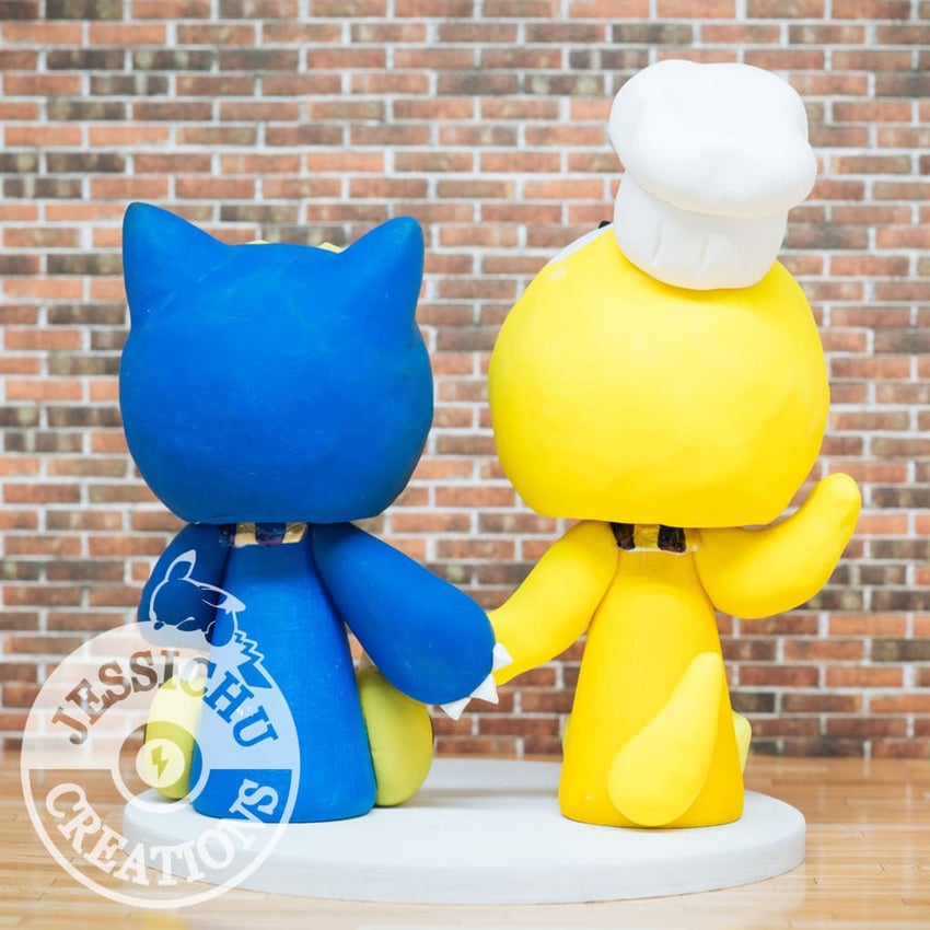 Psyduck & Snorlax Wedding Cake Topper | Nintendo x Pokemon | Jessichu Creations