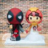 Deadpool and Ironman Wedding Cake Topper | X-Men x Marvel | Jessichu Creations