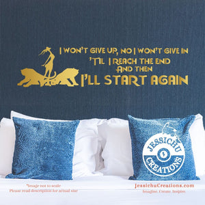 I Won't Give Up No In. - Zootopia Inspired Disney Quote Wall Vinyl Decal Decals