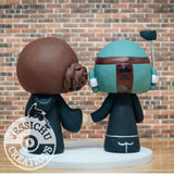 Boba Fett and Ravenclaw Wedding Cake Topper | Star Wars x Harry Potter | Jessichu Creations