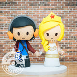 Starlord and Wonder Woman Wedding Cake Topper | Marvel Marvel Guardians of the Galaxy x DC | Jessichu Creations