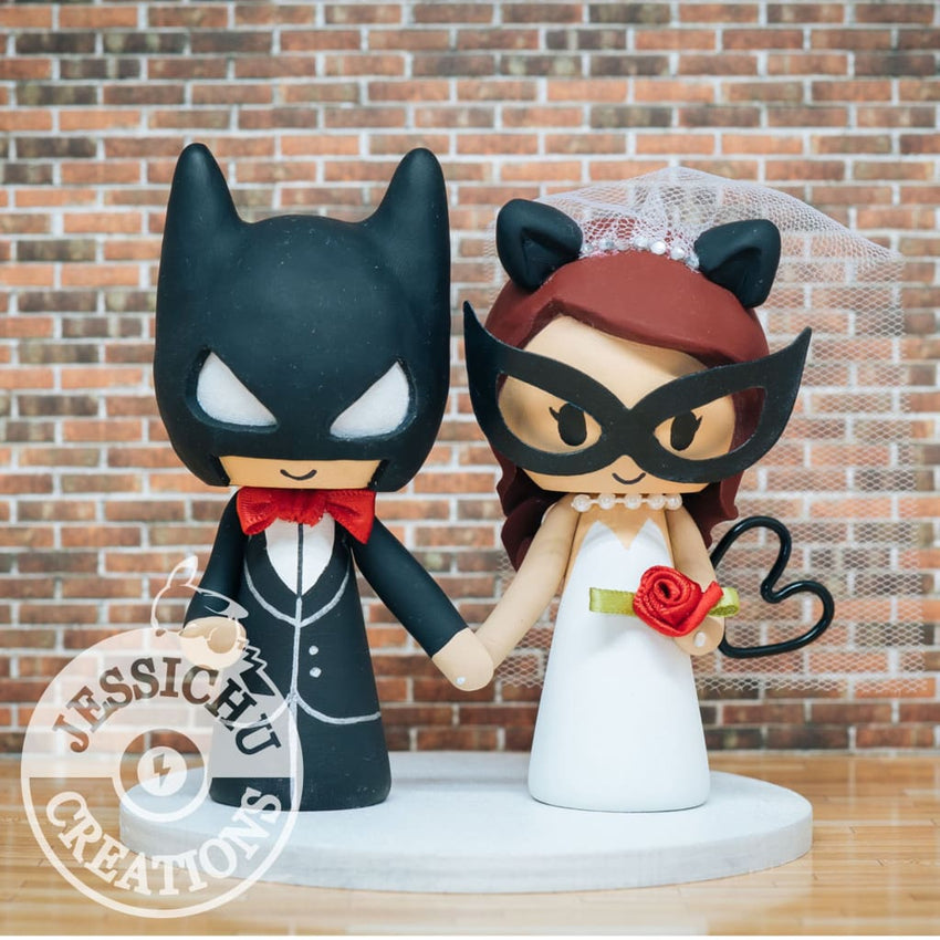 Batman and Catwoman Wedding Cake Topper | DC Comics | Jessichu Creations