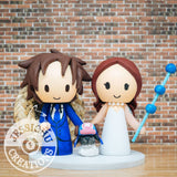 Straw Hat Luffy and Nami with Chopper Wedding Cake Topper | One Piece | Jessichu Creations